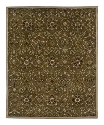 Dark Brown Wool-Blend Broome SoHo Rug