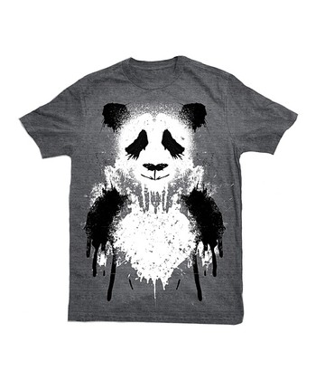 Charcoal Panda Tee - Toddler & Kids