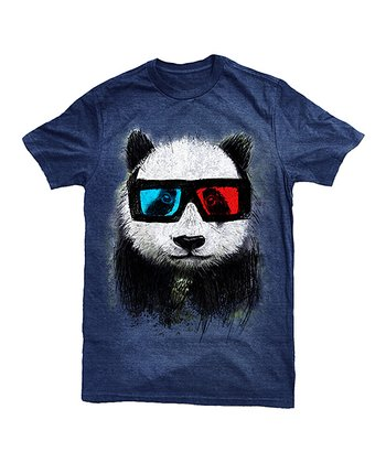 Navy 3-D Glasses Panda Tee - Toddler & Kids