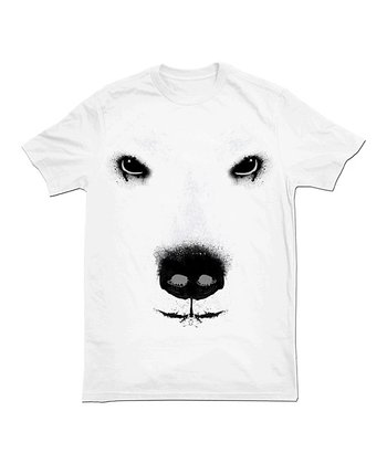 White Polar Bear Face Tee - Toddler & Boys