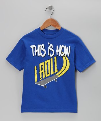 Royal 'How I Roll' Tee - Kids