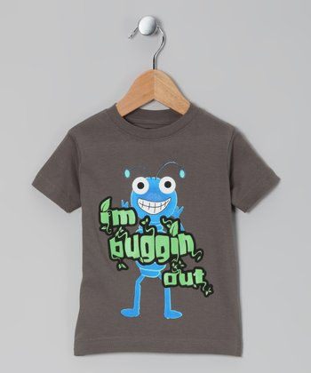 Charcoal 'Buggin' Out' Tee - Toddler