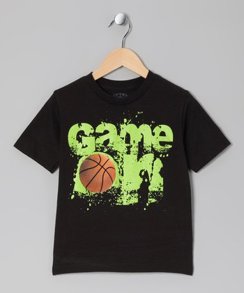 Black 'Game On' Tee - Kids