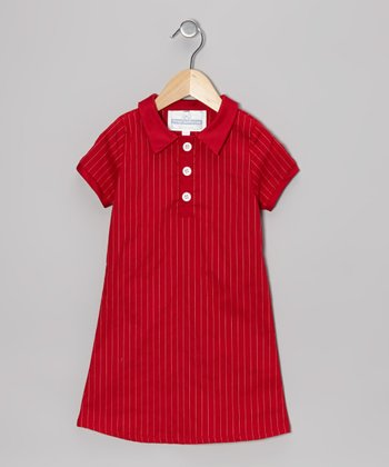 Red & White Stripe California Dress - Toddler & Girls