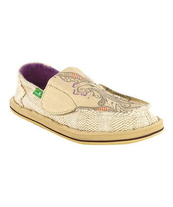 Tan Scribble Little Kid Slip-On Shoe - Kids