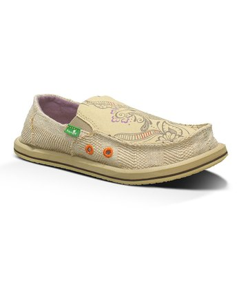Tan Scribble Slip-On Shoe - Kids