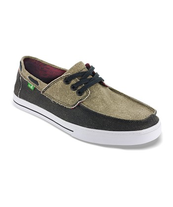 Tan & Black Chum Boat Shoe - Men