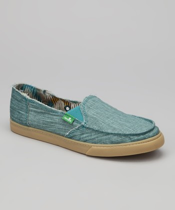 Turquoise Standard Boho Slip-On Shoe - Women