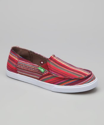 Magenta Standard Poncho Slip-On Shoe - Women