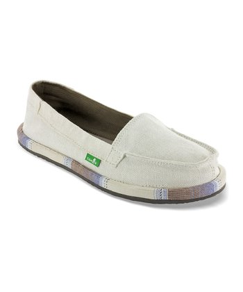 White Shorty Wrapped Flat - Women