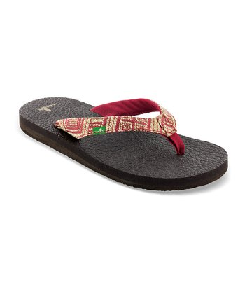 Red Yoga Chi Flip-Flop - Women