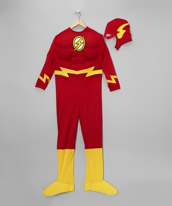 Red & Gold Flash Deluxe Dress-Up Set - Toddler