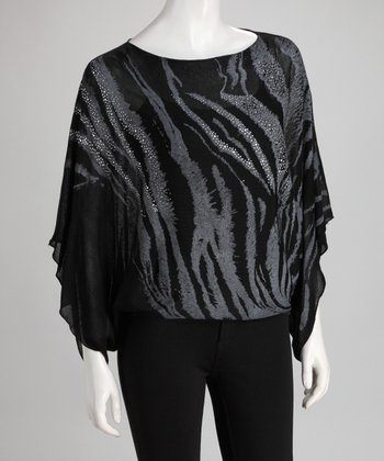 Black Tiger Dolman Top - Women