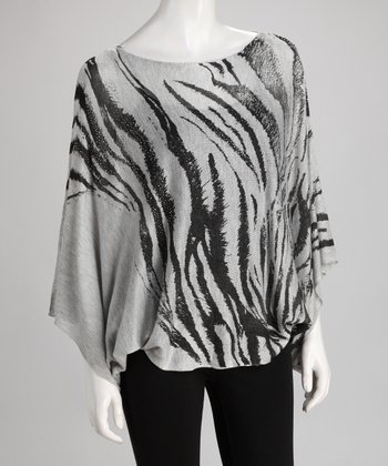Gray Tiger Dolman Top