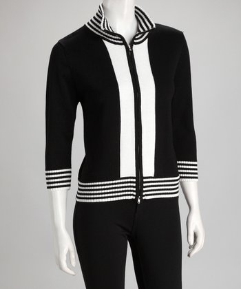 Black & White Stripe Jacket