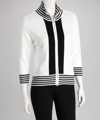 White & Black Stripe Jacket