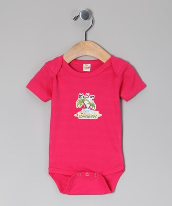 Hot Pink 'It's 5 AM Somewhere' Bodysuit - Infant