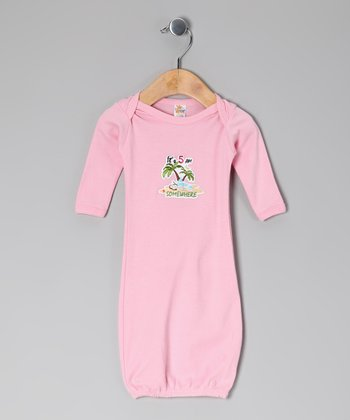 Light Pink 'It's 5 AM Somewhere' Gown - Infant