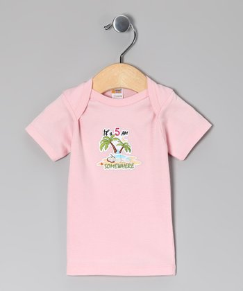 Light Pink 'It's 5 AM Somewhere' Tee - Infant