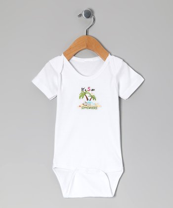 White 'It's 5 AM Somewhere' Bodysuit - Infant
