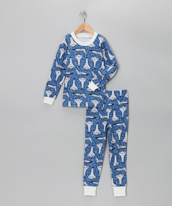 Blue Space Shuttle Pajama Set - Infant & Boys
