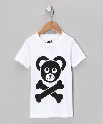 White Shiny Cam's Closet Logo Tee - Toddler & Boys