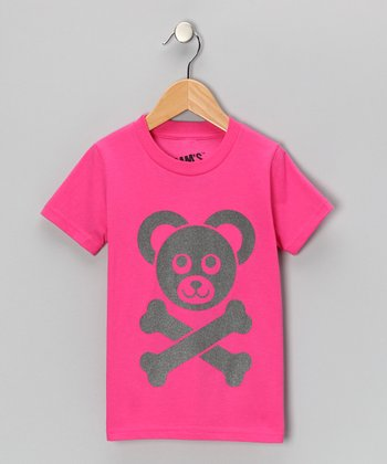 Fuchsia Cam's Logo Tee - Toddler & Girls