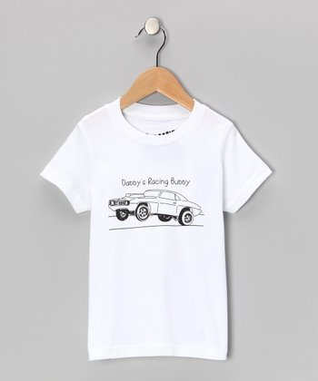White 'Daddy's Racing Buddy' Tee - Toddler & Boys