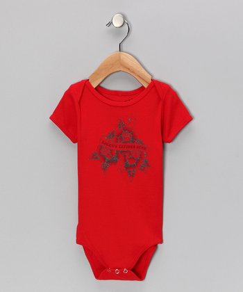 Red 'Daddy's Tattoos Rock' Bodysuit - Infant