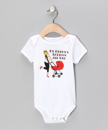 White 'Mommy's Tattoos Are Rad' Bodysuit - Infant