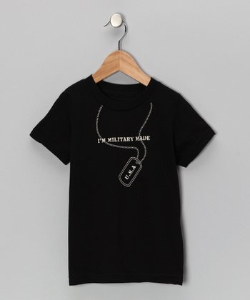 Black 'Military Made' Tee - Toddler & Kids