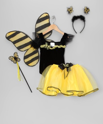 Yellow & Black Bumblebee Dress-Up Set - Toddler & Girls