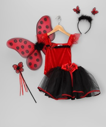 Red & Black Ladybug Tutu Dress-Up Set - Toddler & Girls