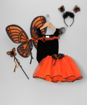 Orange Monarch Butterfly Dress-Up Set - Toddler & Girls