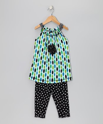 Blue Mod Swing Tunic & Capri Leggings - Toddler & Girls