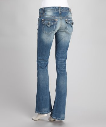 Indigo Jacey Stretch Flare Jeans - Women