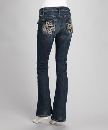Indigo Georgia Stretch Relaxed-Fit Bootcut Jeans - Women