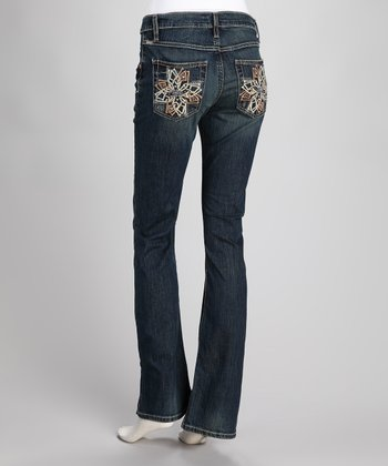 Indigo Georgia Stretch Slim-Fit Bootcut Jeans
