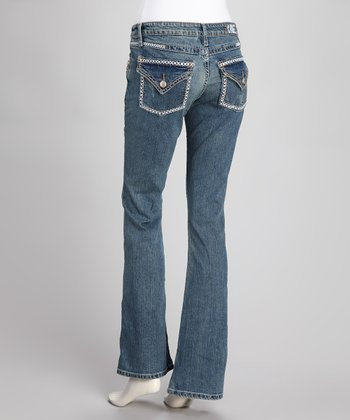 Indigo Macie Stretch Relaxed Bootcut Jeans - Women