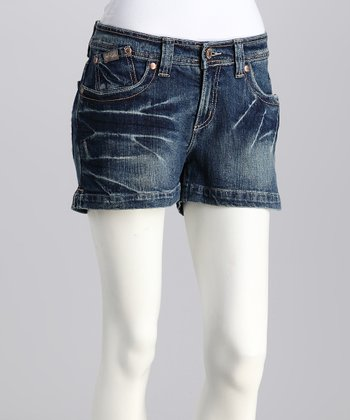 Indigo Leslie Stretch Denim Shorts
