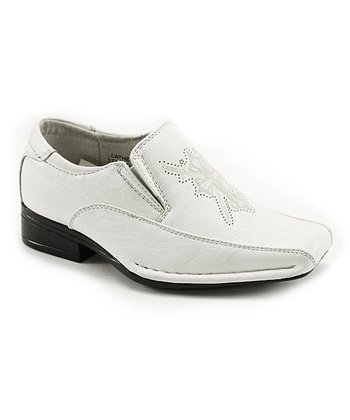 White Eyelet Italian Dress Shoe