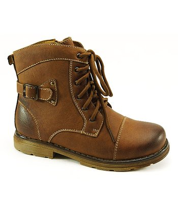 Brown Lace-Up Boot