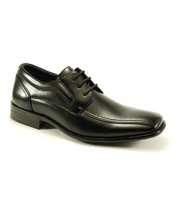 Black Square-Toe Dress Shoe
