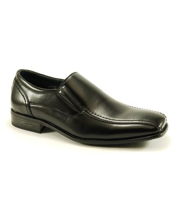 Black Square-Toe Loafer