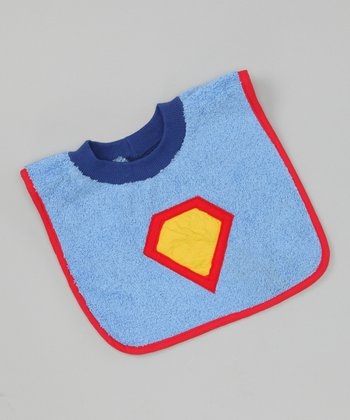 Blue Superhero Bib