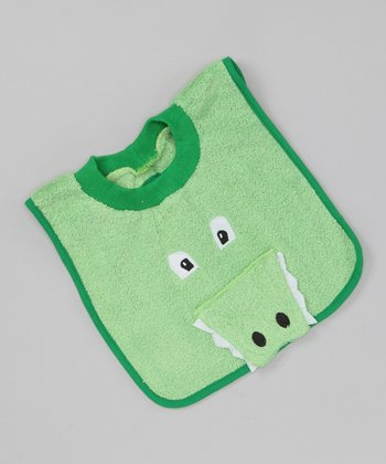 Green Alligator Bib