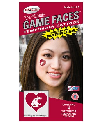 Washington State Heart Temporary Tattoo Set