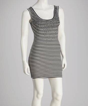 Black & White Stripe Tank Tunic