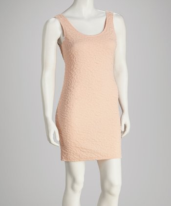 Blush Scoop-Neck Sleeveless Dress