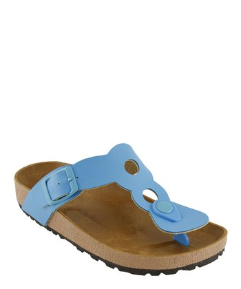 Blue Cutout Sandal